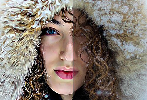 Line Art Effect Photoshop Tutorial : Photo to art go from painting with befunky